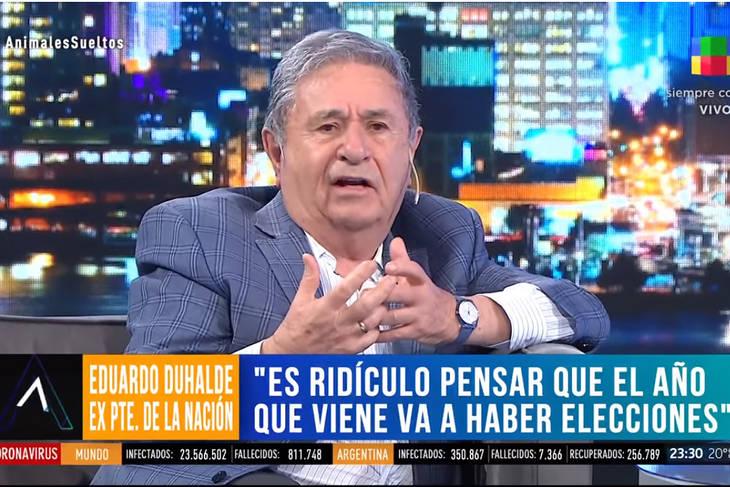Duhalde habló de guerra civil y golpe de Estado y fue repudiado desde todos los sectores