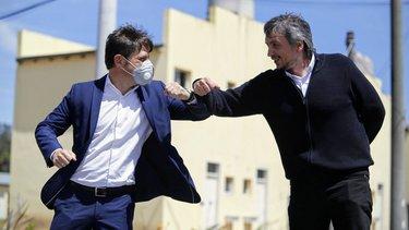 Axel Kicillof y Máximo Kirchner, juntos en la entrega de viviendas