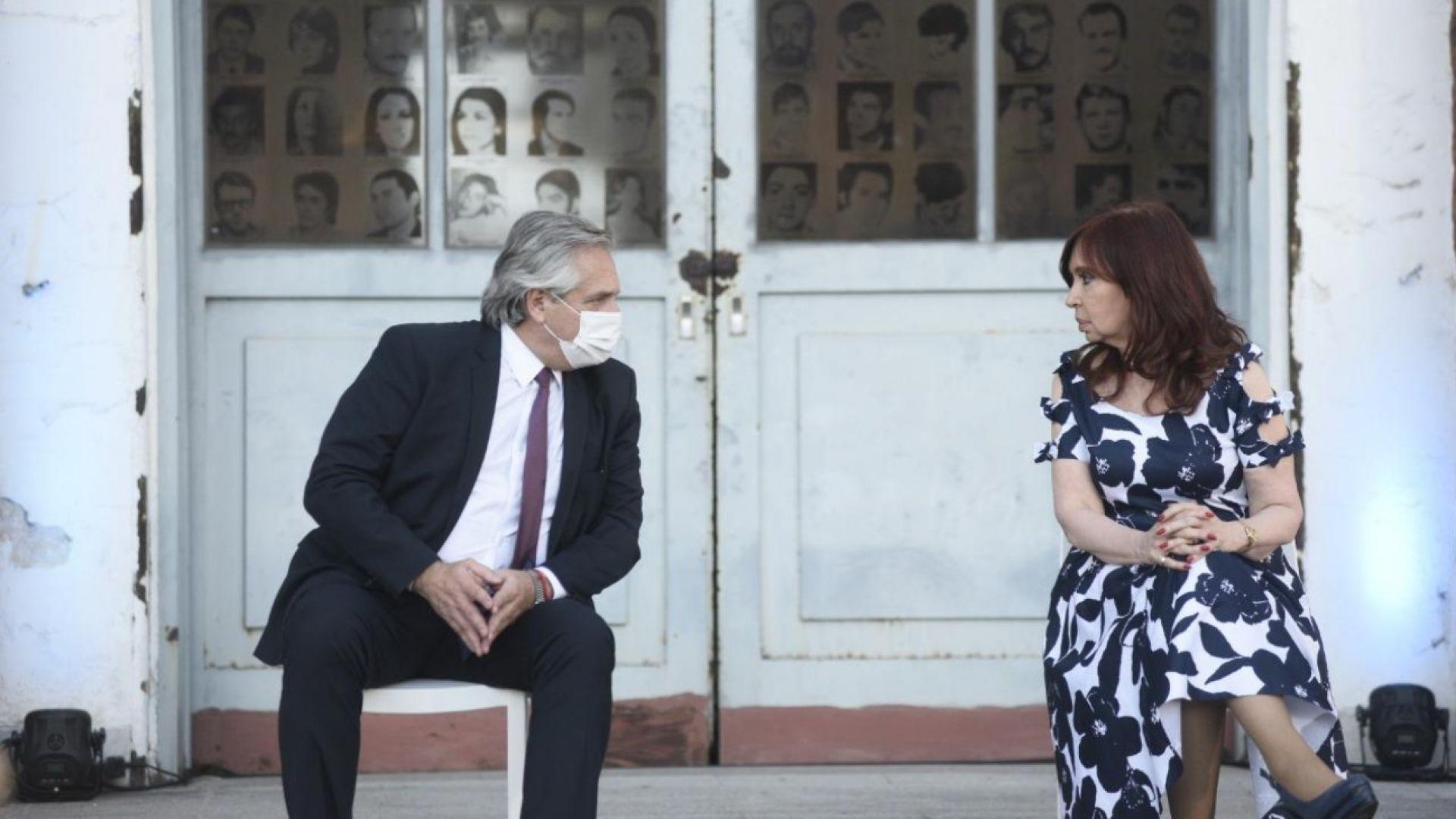Alberto Fernández y Cristina Kirchner en la ex ESMA: «Queremos un país que tenga memoria»