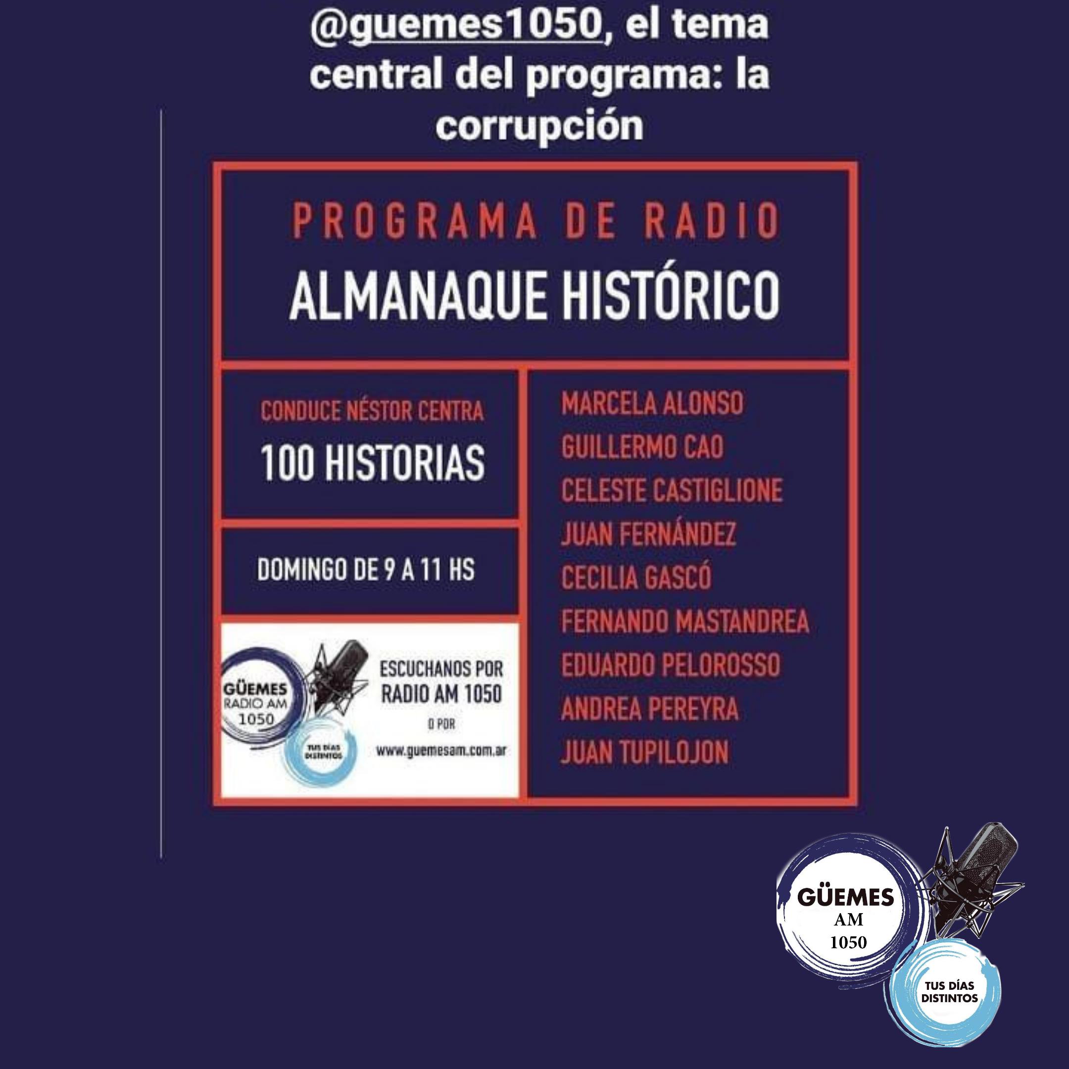 Almanaque Histórico. Editorial por Guillermo Cao.