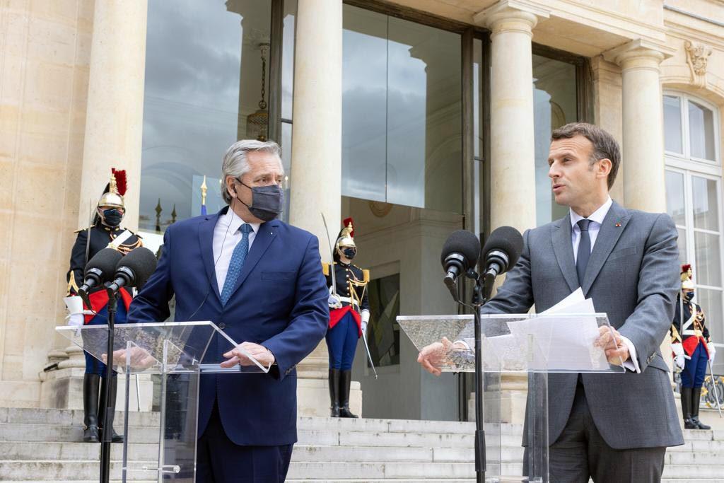 Alberto consiguió el apoyo de Francia para la negociación con el FMI: «Estamos de su lado»