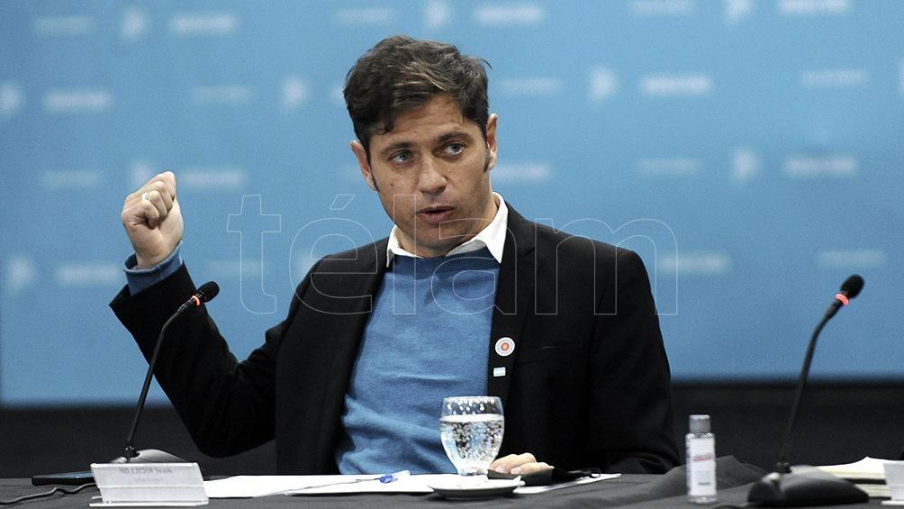 Kicillof destacó la «unidad» del Gobierno nacional, provincial y municipal para reactivar economía