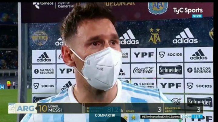 El llanto conmovedor de Messi: «Gracias a Dios se me dio»
