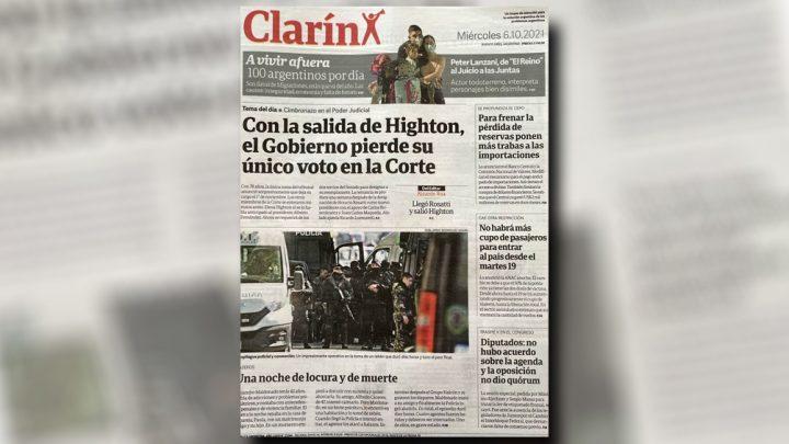 Alberto Fernández cuestionó la tapa de Clarín sobre la renuncia de Highton de Nolasco
